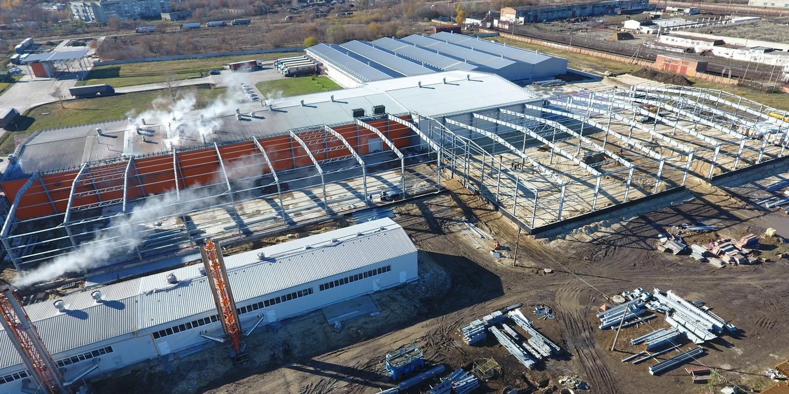 Фото. Строительство Завода Макпром